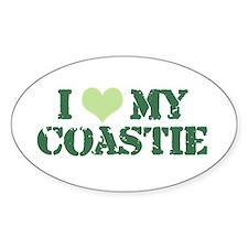 I ♥ my Coastie Oval Decal