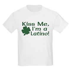 Kiss Me I'm a Latino Kids T-Shirt