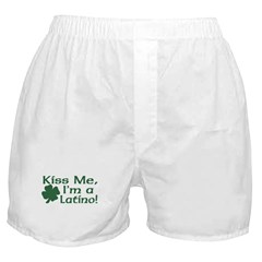 Kiss Me I'm a Latino Boxer Shorts
