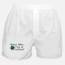 Kiss Me I'm a Latino Boxer Shorts