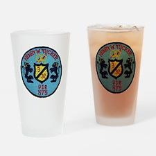 uss henry w. tucker ddr patch trans Drinking Glass
