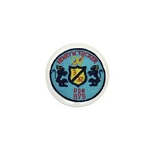 uss henry w. tucker ddr patch transpar Mini Button