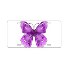Awareness Butterfly Aluminum License Plate