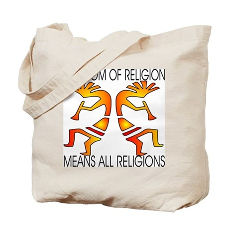 Freedom Means ALL Religions Tote Bag