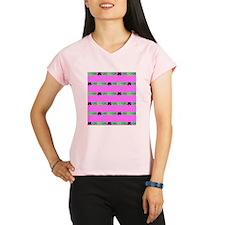 Pink Green Irish 4 Leaf Cl Performance Dry T-Shirt