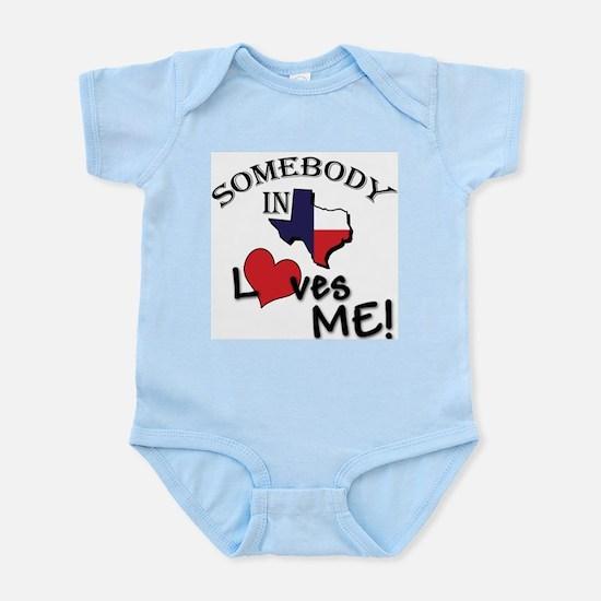 Somebody in Texas Loves Me Infant Creeper