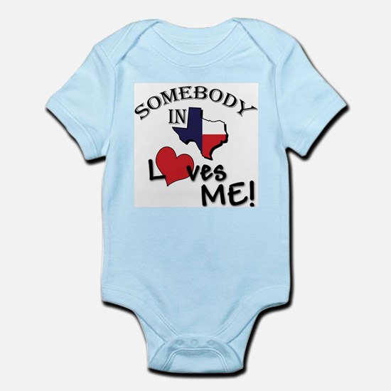 Texas baby clothes cafepress somebody in texas loves me infant creeper negle Images
