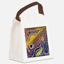 Happiness is My Ukulele Canvas Lunch Bag