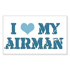 I ♥ my Airman Rectangle Decal