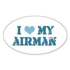 I ♥ my Airman Oval Decal