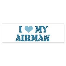 I ♥ my Airman Bumper Bumper Sticker