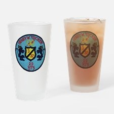 uss henry w. tucker dd patch transp Drinking Glass