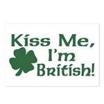 Kiss Me I'm British Postcards (Package of 8)