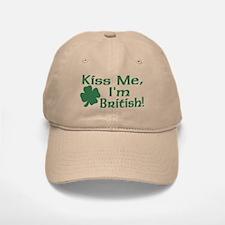 Kiss Me I'm British Baseball Baseball Cap