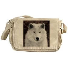 Arctic wolf Messenger Bag
