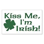 Kiss Me I'm Irish Rectangle Sticker