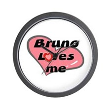 bruno loves me  Wall Clock
