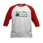 Kiss Me I'm not Irish Kids Baseball Jersey