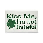 Kiss Me I'm not Irish Rectangle Magnet (10 pack)