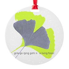 ginkgo, a living fossil Ornament
