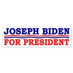 Joseph Biden for President Bumper Sticker