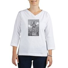 Rendering of statue of Odin, Sc Women's Long Sleeve Shirt (3/4 Sleeve)