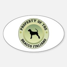 Bracco Property Oval Decal