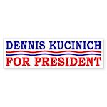 Dennis Kucinich for President sticker