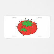 Tomato Pin Cushion Aluminum License Plate