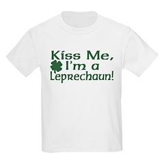 Kiss Me I'm a Leprechaun Kids T-Shirt