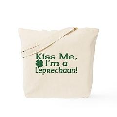 Kiss Me I'm a Leprechaun Tote Bag