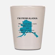 Im from Alaska Shot Glass