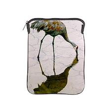 Profile of a Sandhill crane calmly fee iPad Sleeve