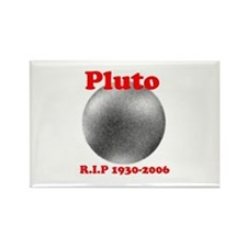 Pluto - Revolve in Peace Rectangle Magnet