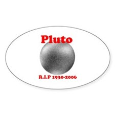 Pluto - Revolve in Peace Oval Decal
