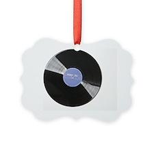Vinyl record on white background Ornament