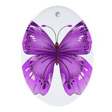 Awareness Butterfly Ornament (Oval)