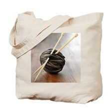 Ball of yarn with knitting needles Tote Bag
