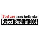 Torture is not a family value (sticker)