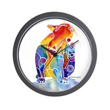 LOVE CAT Bright Colors Wall Clock