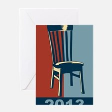 Eastwood And The Chair 2012 Election Greeting Card