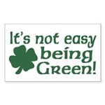 It's not easy being Green Rectangle Sticker