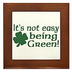 It's not easy being Green Framed Tile