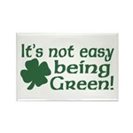 It's not easy being Green Rectangle Magnet (10 pac