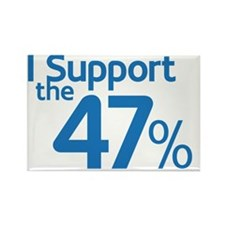 I Support the 47% Rectangle Magnet