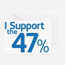 I Support the 47% Greeting Card