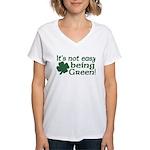It's not easy being Green Women's V-Neck T-Shirt