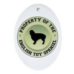 Spaniel Property Oval Ornament