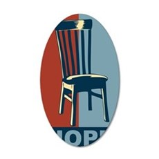 Eastwood And The Chair 2012  35x21 Oval Wall Decal