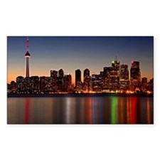 Toronto Skyline at Dusk Decal